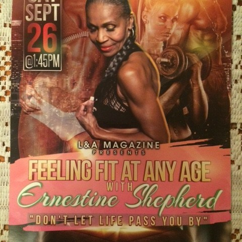 Ernestine Shepherd Event Sept 26, 2015