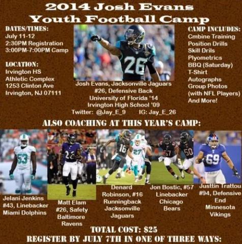 Josh Evans Youth Football Camp
