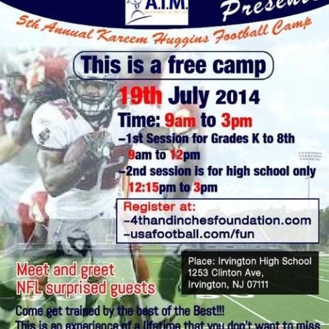 Kareem Huggins NFL Youth Football Camp